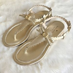 New Kate Spade Gold Talan Sandals